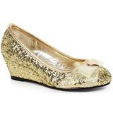 """1"""" Heel Children's Glitter Princess Shoe with Heart décor"""