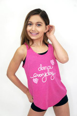 Dance everyday tank with hearts