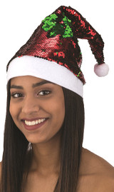 Flip Sequin Santa Hat