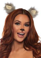 Leg Avenue Furry Ear Clips Animal Accessory