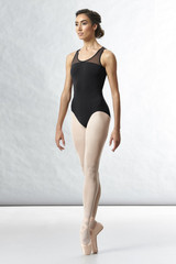 Bloch Arrosa Scoop Neck Motif Open Back Tank Tween Leotard