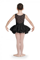 Bloch Aiko Floral Flock Mesh Back Tank Tutu Girls Dance Leotard