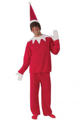 Adult Sitting Elf Man Costume