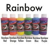 ProAiir Hybrid 1oz Rainbow UV Starter Set 6pk Collection Waterproof Face/Body Airbrush Makeup