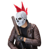 Punk Skull Mask Red Mohawk