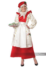 Mrs. Claus Pinafore Dress with Apron Adult Costume