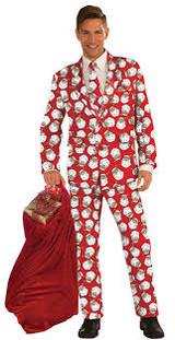 The Santa Suit Tux Adult Costume