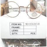 Clear Lens Lennon Style Light Gold