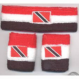 Red, White, and Black Sweatband Set