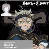Official Licensed Black Clover Cosplay Wig: Asta