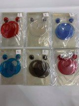 Mod Style Tented Color Earrings