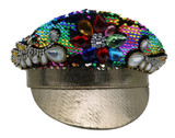 Multicolored Gems Police Hat