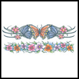 Body Bands Flowers Temporary Tattoo