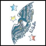United We Stand Eagle – Vintage Temporary Tattoo