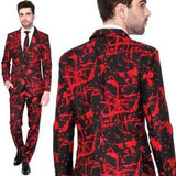 Halloween Black Suit Blood Splatter