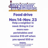 Food Drive Now-Nov 23rd