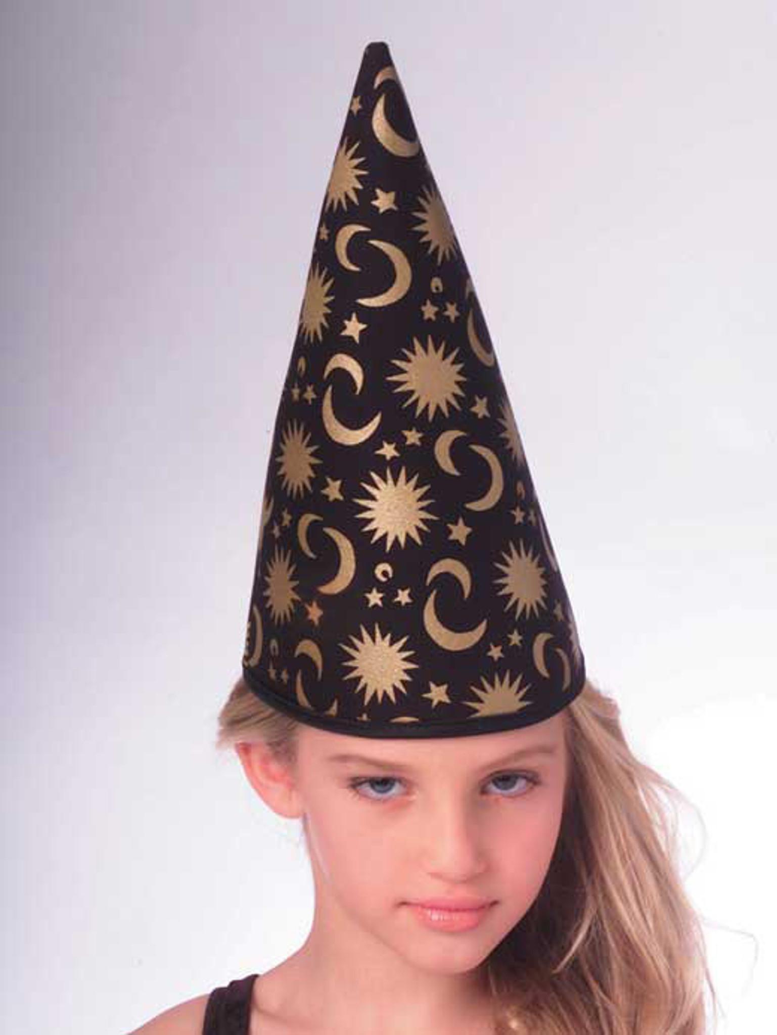 Wizard Hat Black /& Gold