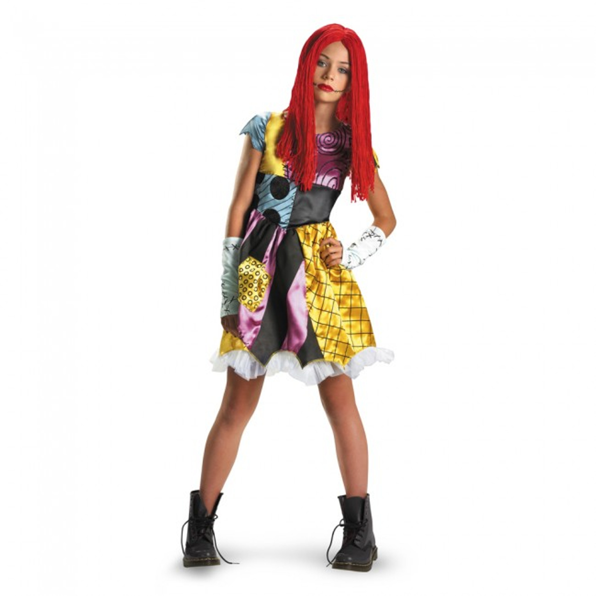 Nightmare Before Christmas Sally Deluxe Girl/'s Costume