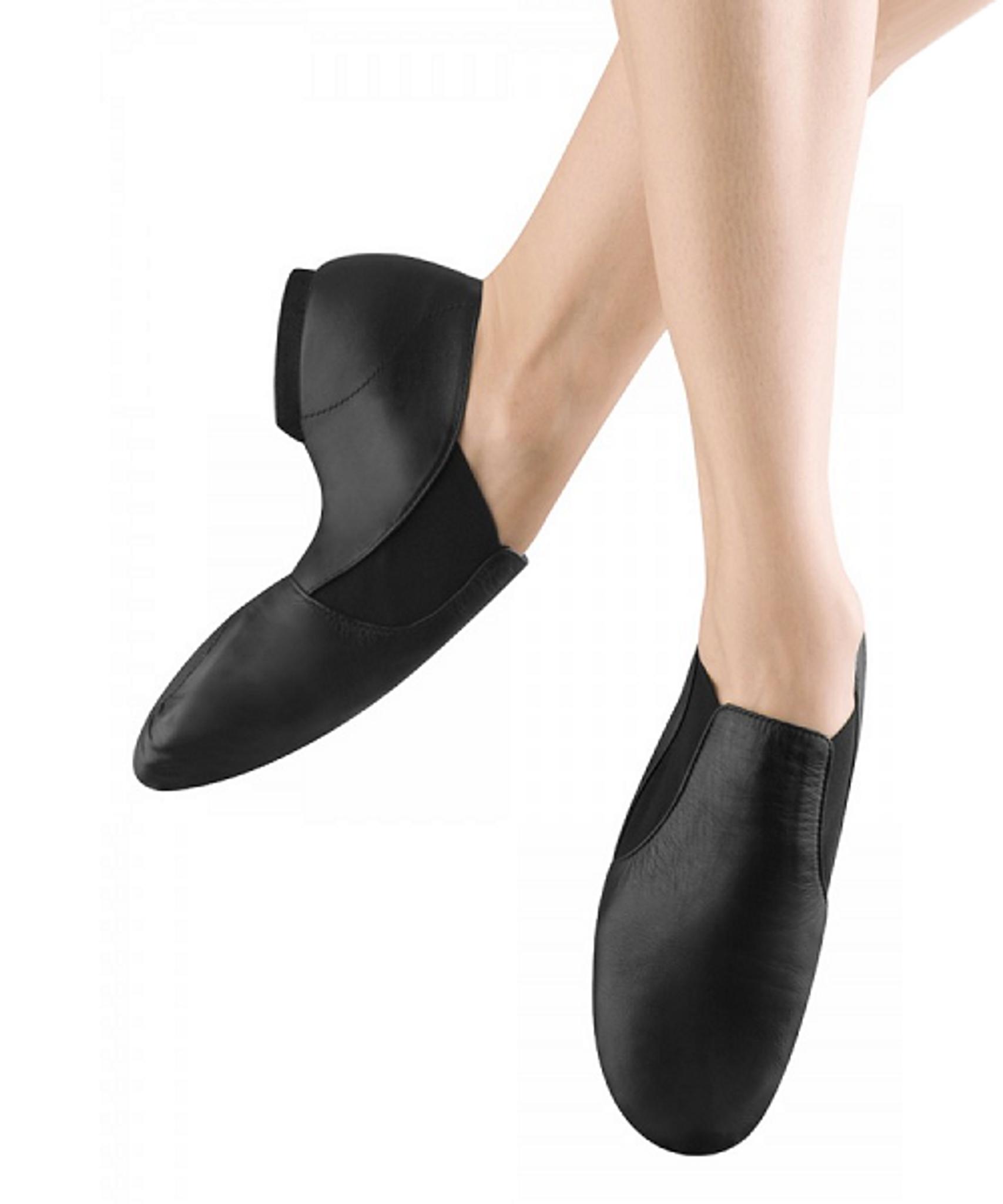 Elasta Bootie Slip On Jazz Shoes - Black