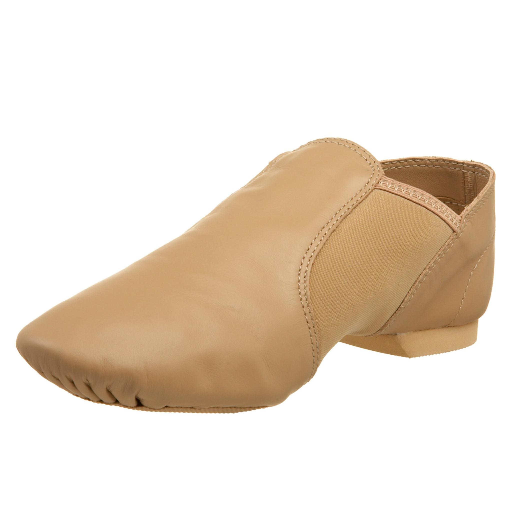 Dance Shoes Dance Basix Leather Slip-On Split Sole Jazz Shoes