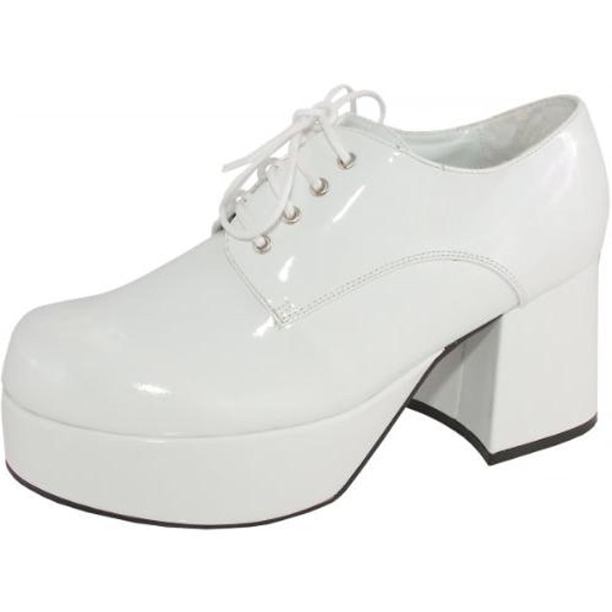 mens white platform shoes