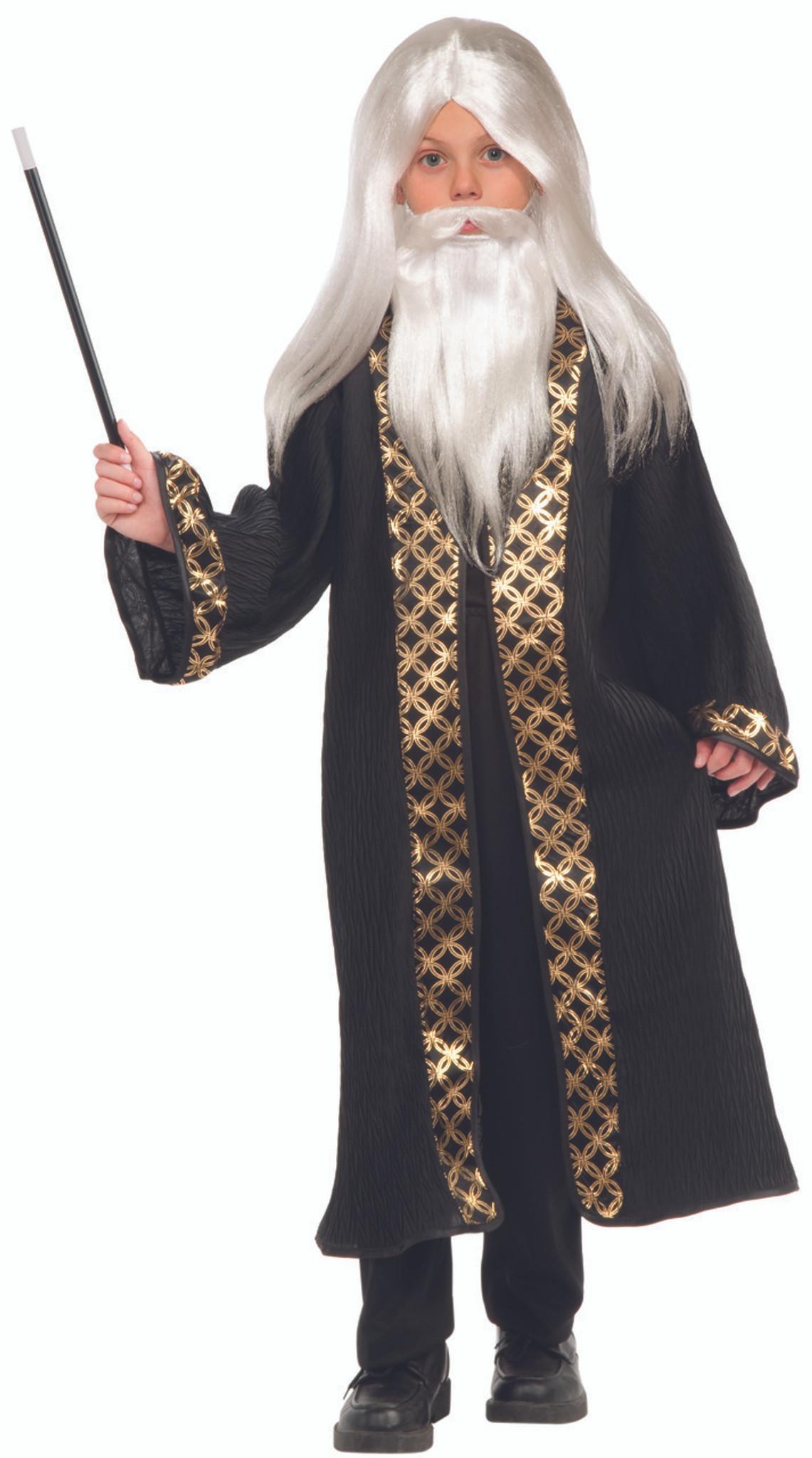 Wizard White Long Mustache Beard Boys Child Costume Wig Set
