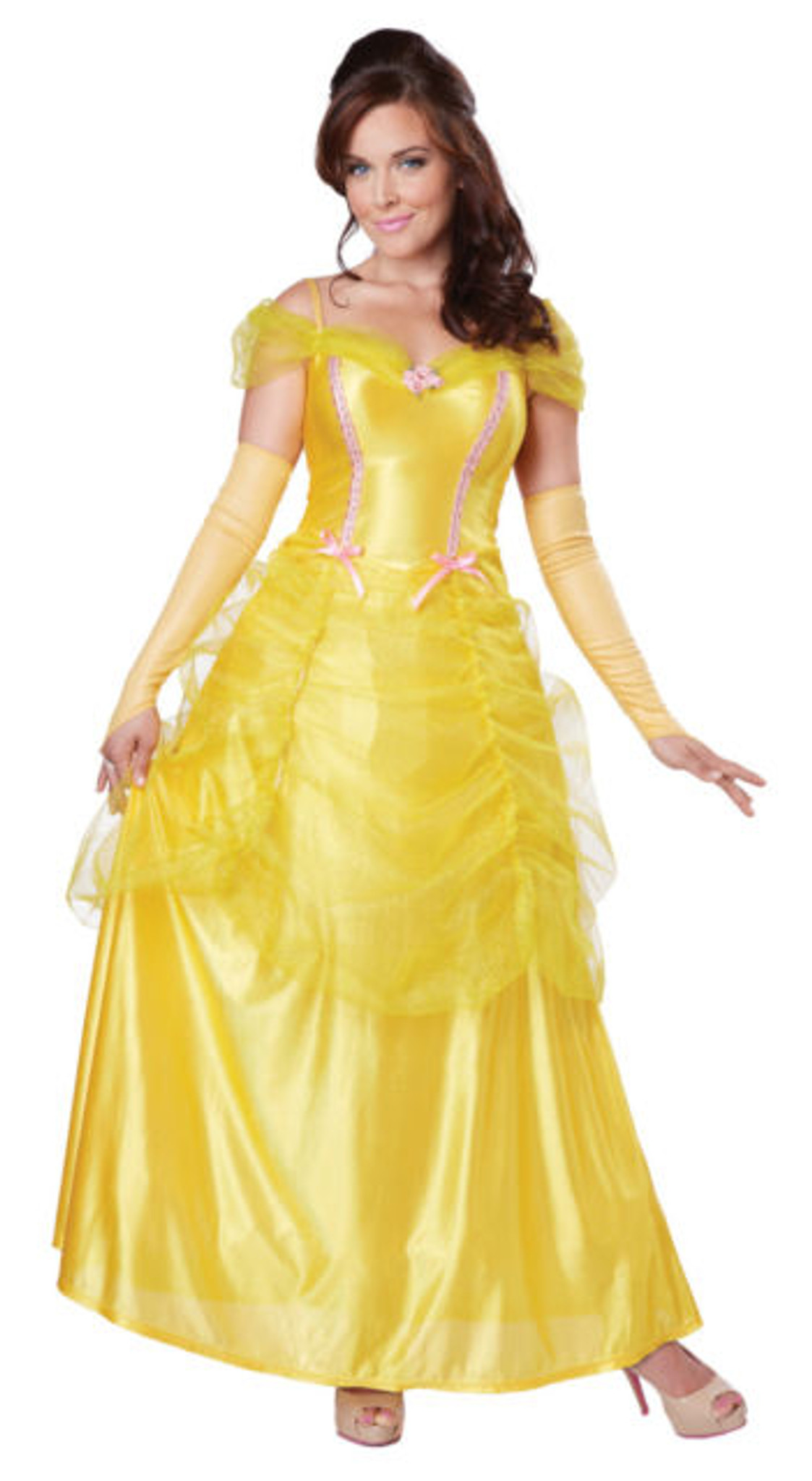 Belle Classic Beauty Plus Size Princess Yellow Dress