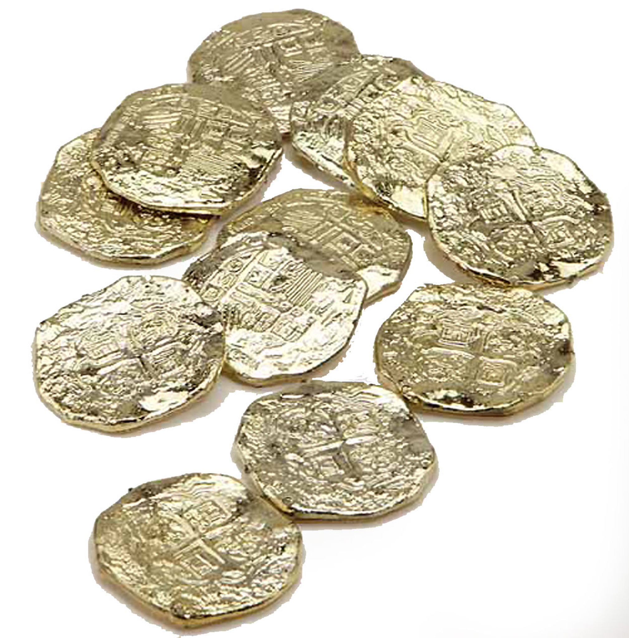 Pirate Gold Doubloons 12 pc Toy Coins