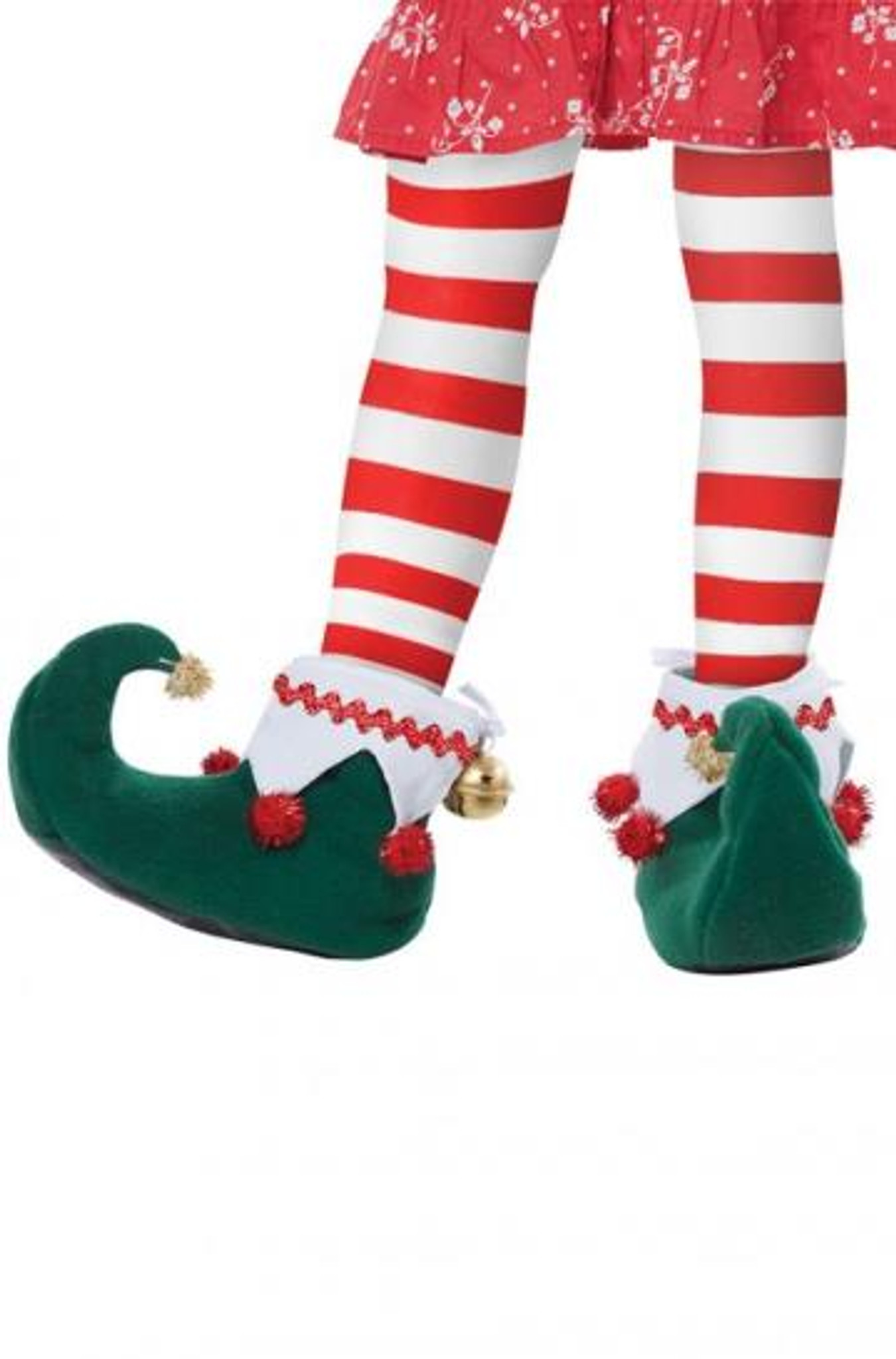 Adults Elf Hat With Bells Elf Shoes And Santa Beard Unisex Christmas Accessory