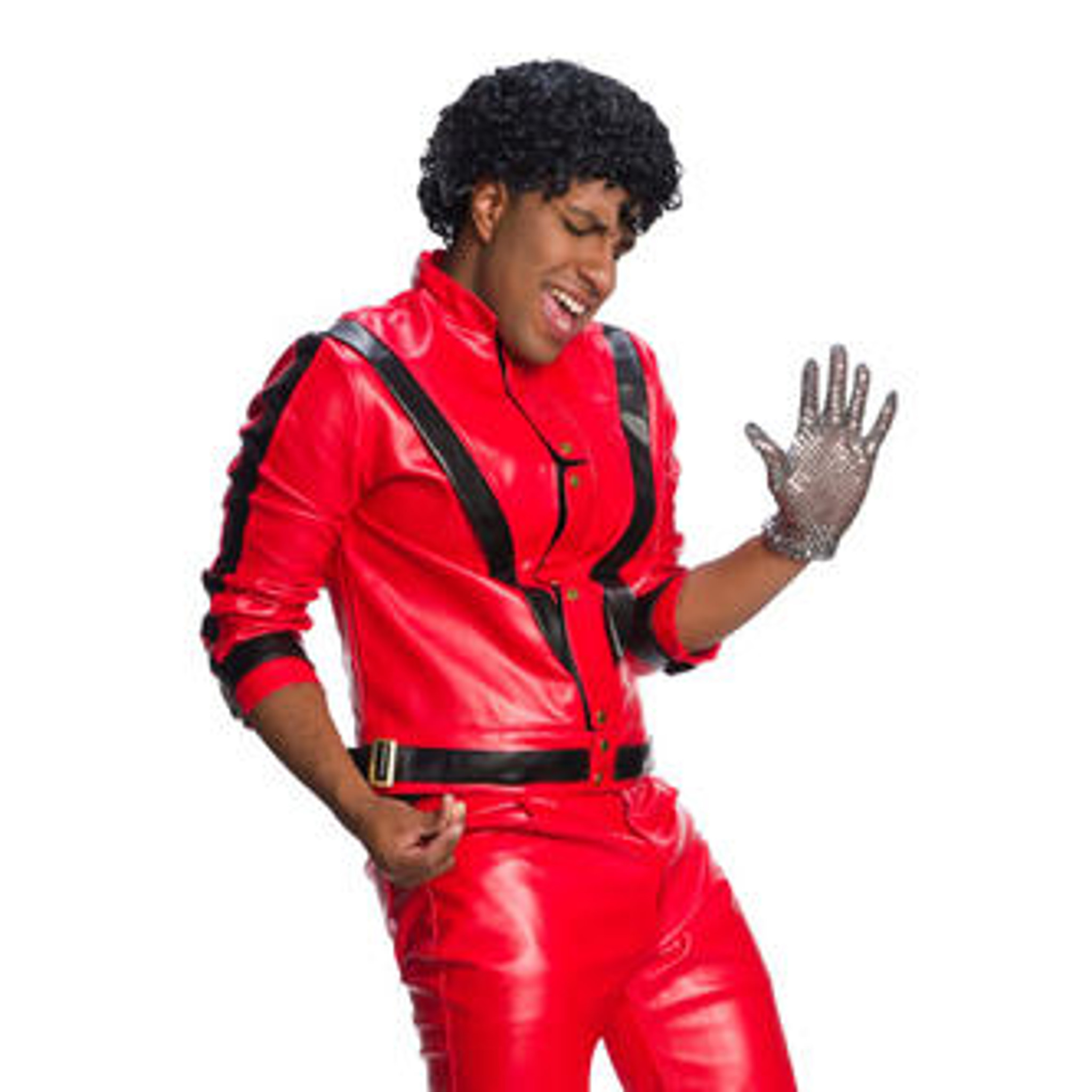 ackson Accessory Costume Licensed Men Michael Adult Wig Thriller Halloween