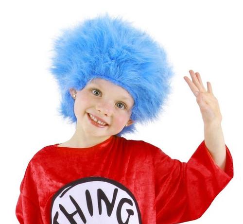 Dr. Seuss Thing 1 & 2 Wig Blue Troll Wig