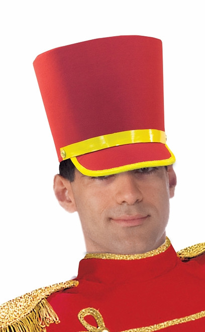 /toy-soldier-hat-red-with-yellow-trim-tall/