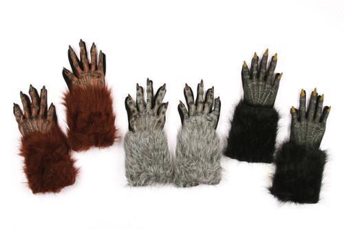 "Werewolf Gloves 15"" from Finger Tip to End of Fur"
