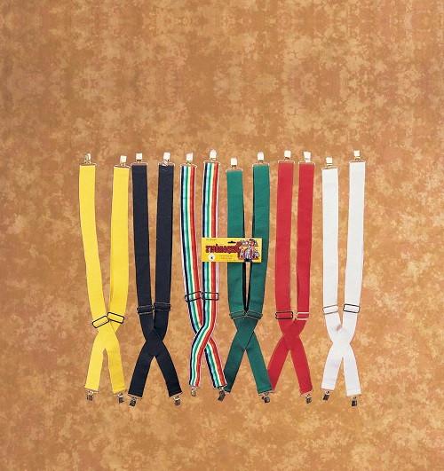 Suspenders Assorted Colors Adjustable