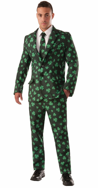 St. Patrick's Day Shamrock Suit and Tie Irish Business Suit