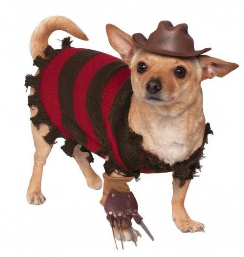 Nightmare on Elm Street Licensed Freddy Krueger Dog Costume Set
