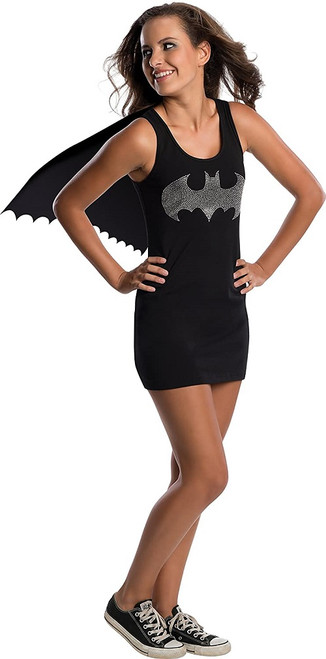 Batgirl Jeweled Tank Dress Teen with Cape