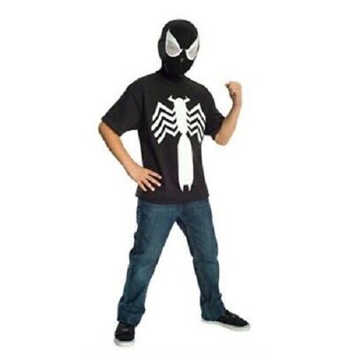 Black Spider-Man T-Shirt & Mask