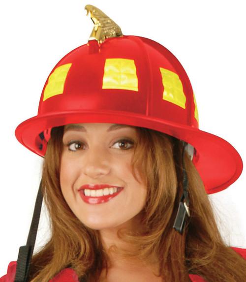Fire Helmet RED Heavy Duty Realistic