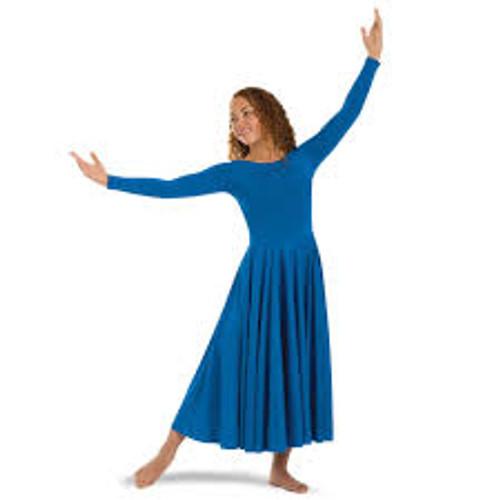 Body Wrappers Girl's Long Sleeve Dance Dress