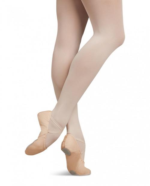 Capezio Child Juliet Leather Split Sole Ballet Shoe - Light Pink