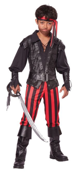 Briny Buccaneer Boy's Pirate Costume