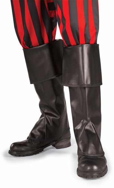 """Pirate Boot Tops for Kids or Small Adult 13"""" Black or Brown"""