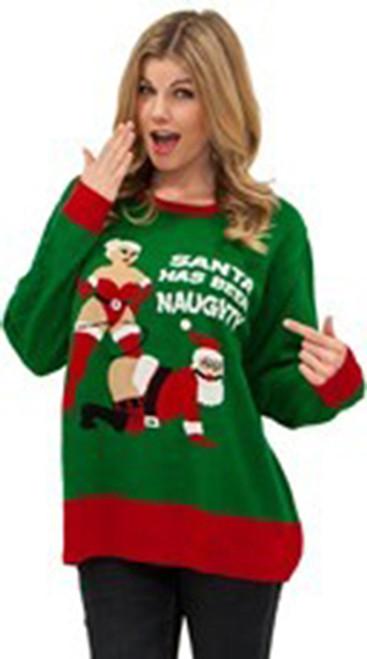 Ugly Christmas Sweater Naughty Santa