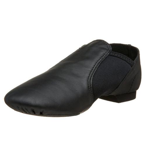 Capezio Black E-Series Jazz Slip On Split Sole Shoe