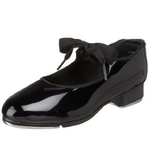 Jr. Beats Soft Leather Bow Top Beginner Tap Shoe