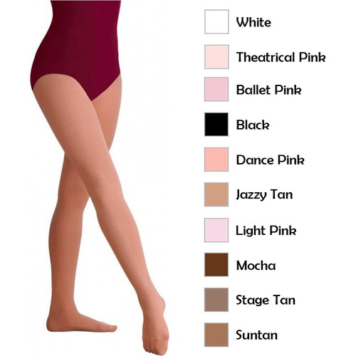Body Wrappers Total STRETCH Plus Size Footed Tights