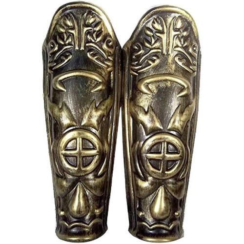 Roman Leg Guards Plastic with a Battled look