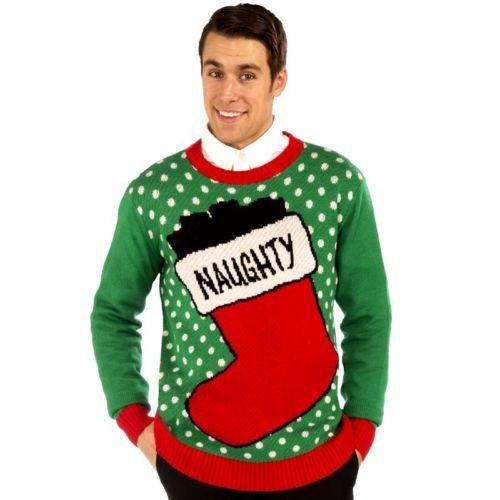 Ugly Christmas Sweater Naughty Stocking