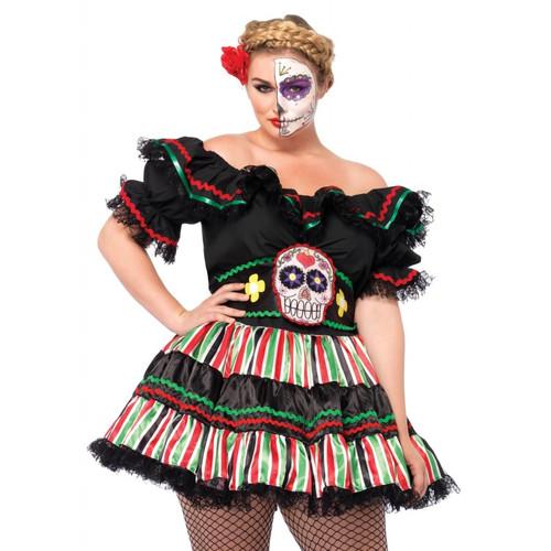 Leg Avenue Day of the Dead Doll Plus Costume